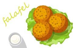Falafel gevuld pitabroodje met groenten Royalty-vrije Stock Afbeeldingen