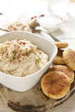 Falafel hecho en casa y Hummus Imagen de archivo libre de regalías