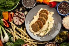Falafel i hummus obraz royalty free