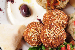 Falafel and laban Royalty Free Stock Photo