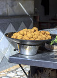 Falafel in metal bowl,Cairo,Egypt,Falafel is a traditional food Stock Images