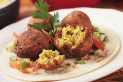 Falafel, middle eastern chickpea balls Stock Photos