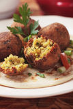 Falafel, middle eastern chickpea balls Royalty Free Stock Photo