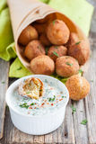Falafel, middle eastern deep fried chickpea balls Stock Photography