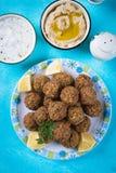 Falafel, fried chickpea balls. Falafel, middle eastern fried chickepa balls, popular fast food meal Royalty Free Stock Images
