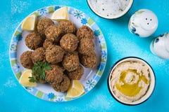 Falafel, fried chickpea balls. Falafel, middle eastern fried chickepa balls, popular fast food meal Stock Photo