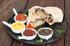 Falafel opakunek z souce Fotografia Royalty Free