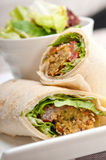 Falafel pita bread roll wrap sandwich Royalty Free Stock Photo