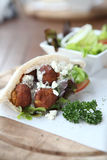 Falafel in a Pita Stock Photos