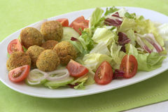 Falafel plate Royalty Free Stock Images