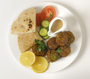 Falafel plate from above Stock Photos
