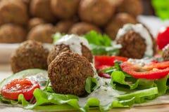 Falafel on salad leaves Stock Image