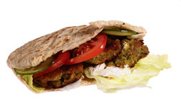 Falafel sandwich, isolated Stock Image
