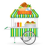 Falafel Street Market. Vector stock illustration