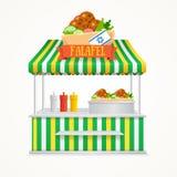 Falafel Street Market. Vector Royalty Free Stock Image