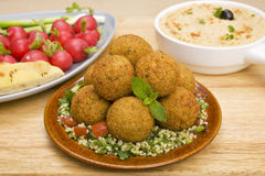Falafel and Tabbouleh Royalty Free Stock Photos