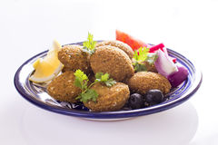 Falafel. Is a traditional Middle Eastern deep-fried ball or patty made from ground chickpeas, fava beans Royalty Free Stock Image