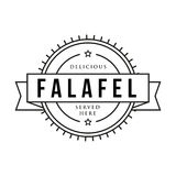 Falafel vintage sign stamp Stock Photography