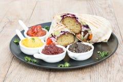 Falafel warp Royalty Free Stock Images