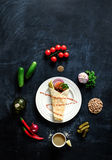 Falafel on a white plate. Royalty Free Stock Photography