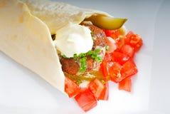 Falafel wrap Stock Image
