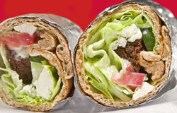 Falafel Wrap Stock Images