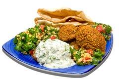 Falafel y tabbouleh Fotografía de archivo libre de regalías