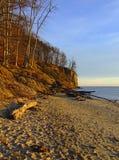 Falaise à Gdynia Photos libres de droits