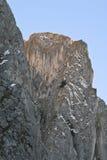 falaise au-dessus de crépuscule Photos libres de droits