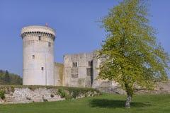 Falaise Castel在法国 免版税库存照片