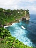 Falaise chez Bali, Indonésie Images libres de droits