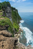 Falaise d'Uluwatu, Bali, Indoneisa Photo stock