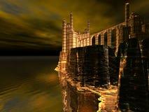 Falaise de château Images libres de droits