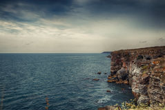 Falaise de mer Image libre de droits
