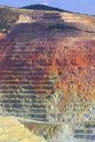 Falaise de mine de cuivre Photographie stock libre de droits