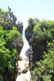 Falaise de plage de DUA de Nusa images stock