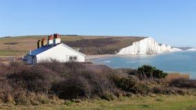 Falaise de sept soeurs dans le Sussex est Angleterre Photo libre de droits