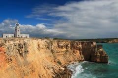 Falaise de visibilité directe Morrillos dans Cabo Rojo, Porto Rico Image libre de droits