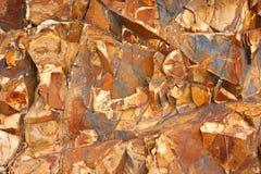 Falaise des roches sédimentaires Photo libre de droits