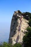 Falaise du mont Hua Shan Photos libres de droits