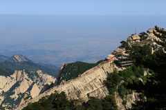 Falaise du mont Hua Shan Images libres de droits