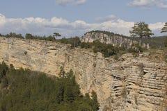 Falaise en parc naturel de chaîne de Cuenca Image libre de droits