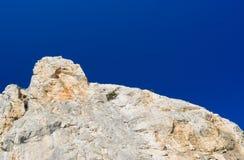 Falaise fine sur la montagne de chat en Crimée, Ukraine Image stock