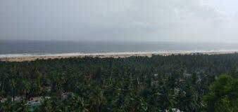 Falaise près de Chowara, Trivandrum, Kerala, Inde photographie stock