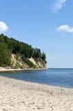Falaise sur le bord de la mer de Gdynia Orlowo Images stock
