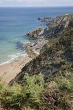 Falaises à la plage de Carro ; Espasante ; La Galicie Image libre de droits