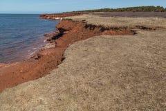 Falaises à la plage PEI de Cavendish Photographie stock