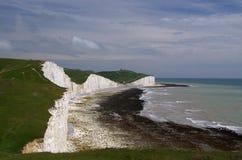 Falaises blanches de l'Angleterre du sud Photos libres de droits