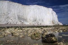 Falaises blanches de l'Angleterre du sud Image stock