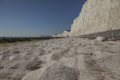 Falaises blanches - East Sussex, Angleterre, R-U photos stock